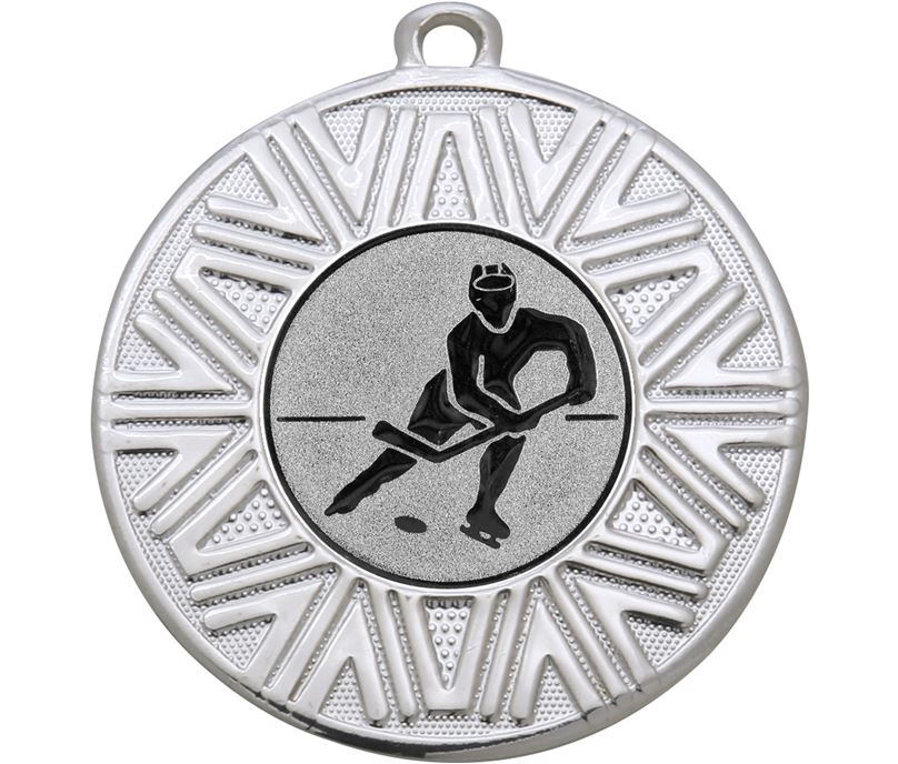 "Ice Hockey Achievement Medal Silver 50mm (2"")"