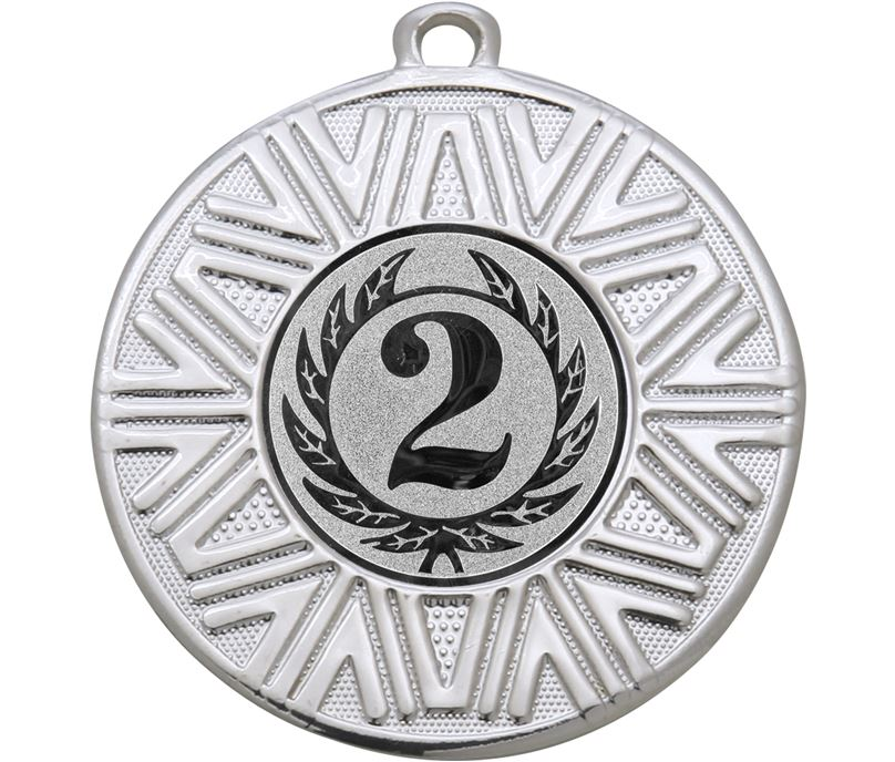 "2nd Place Achievement Medal Silver 50mm (2"")"