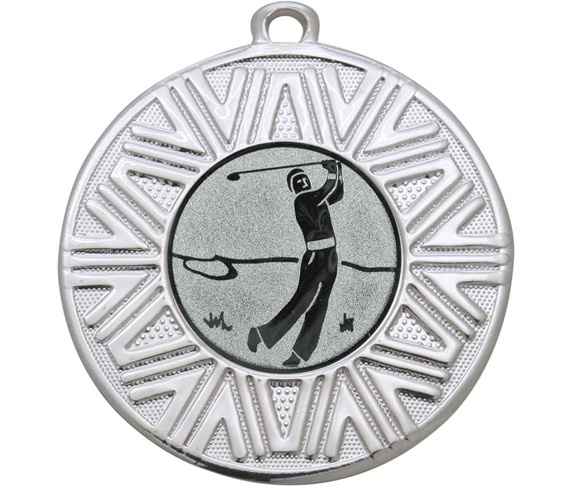 "Golf Achievement Medal Silver 50mm (2"")"
