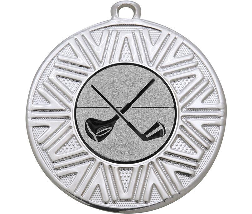 "Golf Clubs Achievement Medal Silver 50mm (2"")"