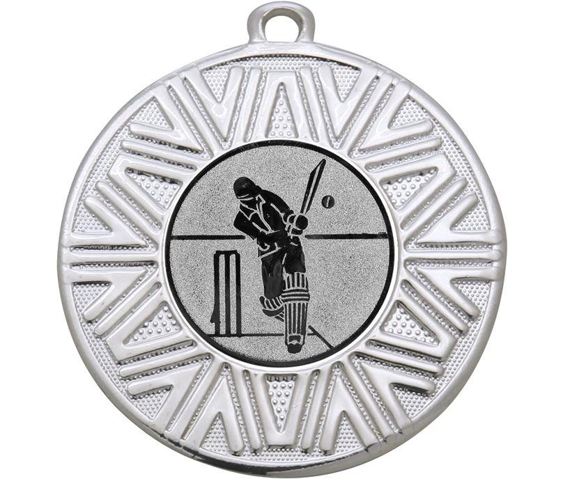 "Cricket Achievement Medal Silver 50mm (2"")"
