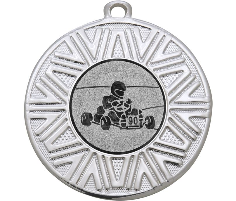 """Karting Achievement Medal Silver 50mm (2"""")"""