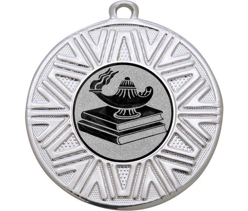 "Quiz Knowledge Achievement Medal Silver 50mm (2"")"