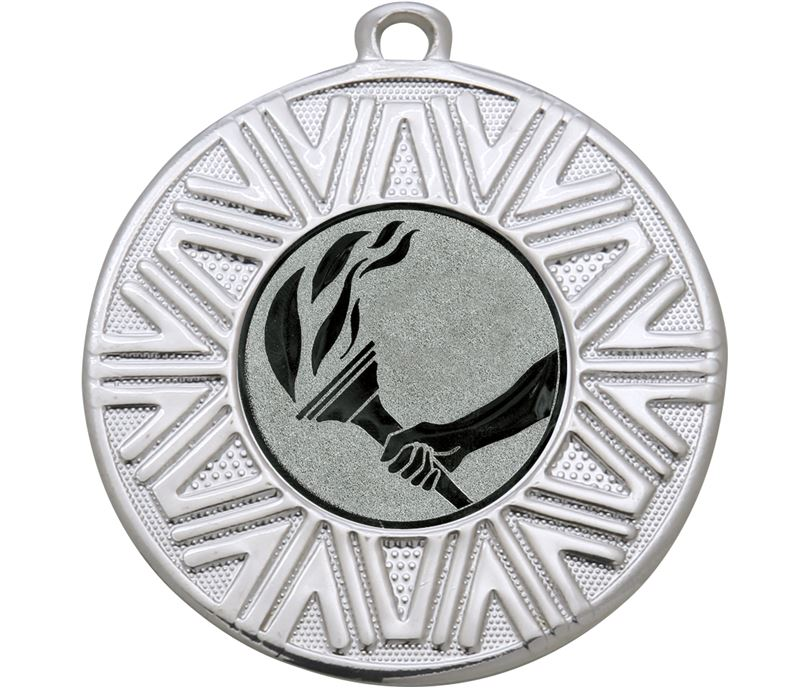 "Flame Achievement Medal Silver 50mm (2"")"