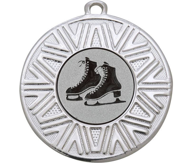 "Ice Skating Achievement Medal Silver 50mm (2"")"