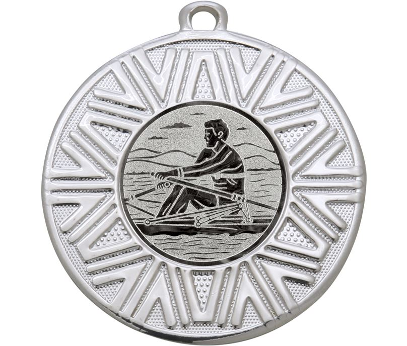 "Rowing Achievement Medal Silver 50mm (2"")"