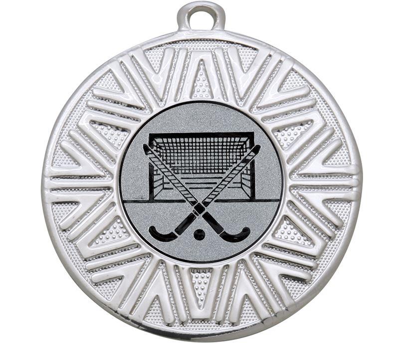 "Hockey Achievement Medal Silver 50mm (2"")"