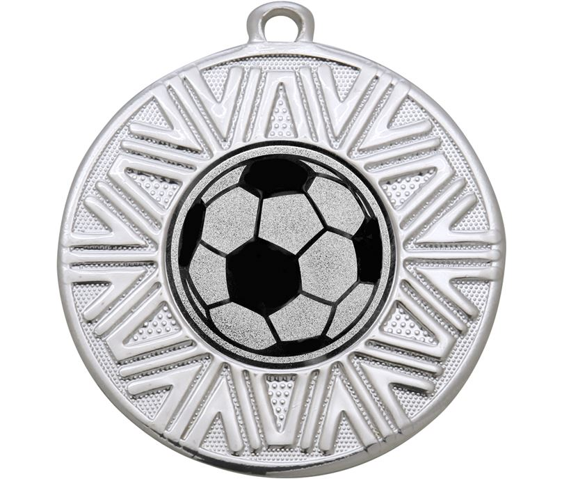 "Football Achievement Medal Silver 50mm (2"")"