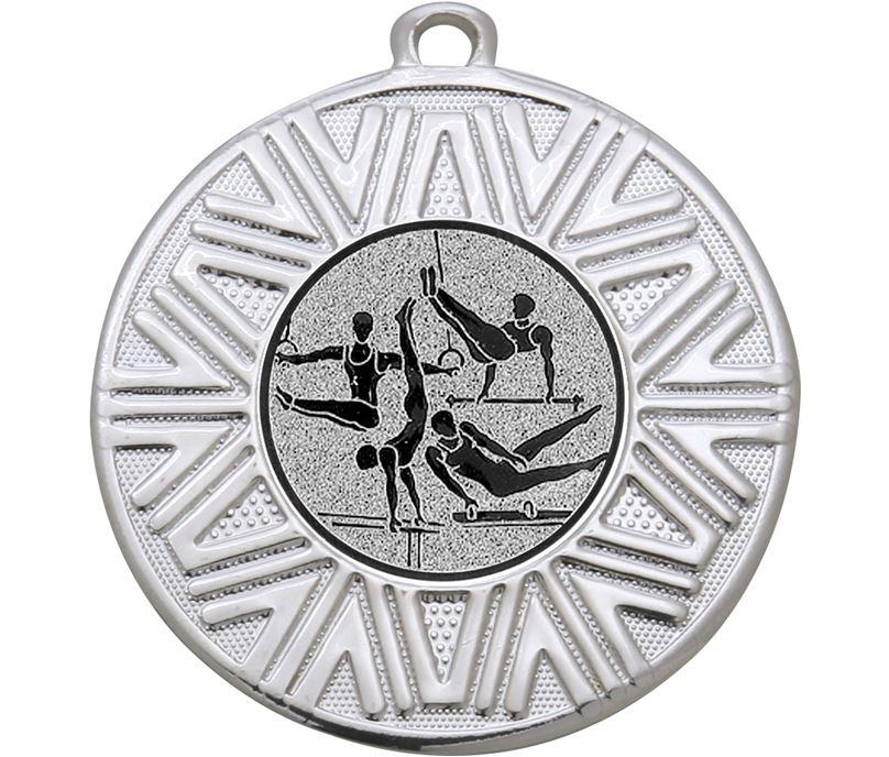 "Male Gymnastics Achievement Medal Silver 50mm (2"")"
