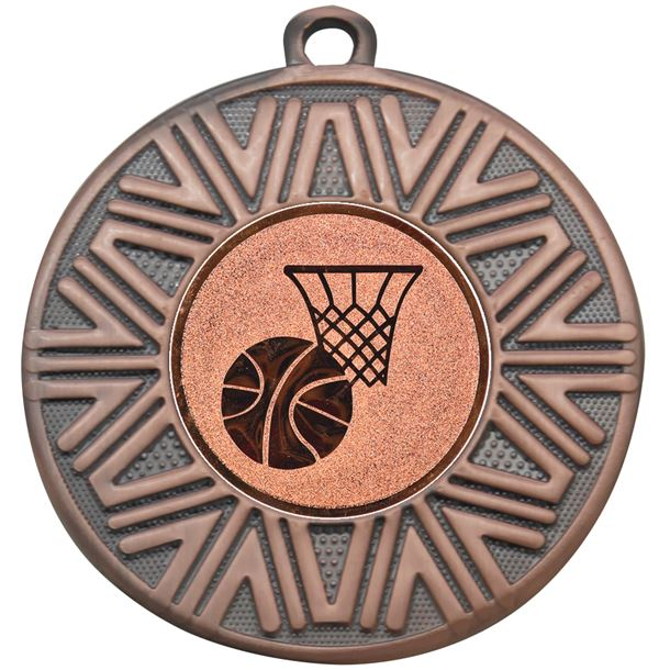 "Basketball Achievement Medal Bronze 50mm (2"")"