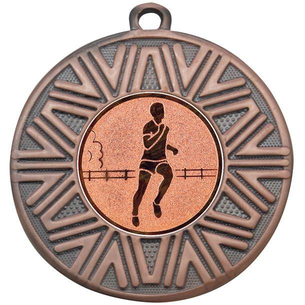 """Running Achievement Medal Bronze 50mm (2"""")"""