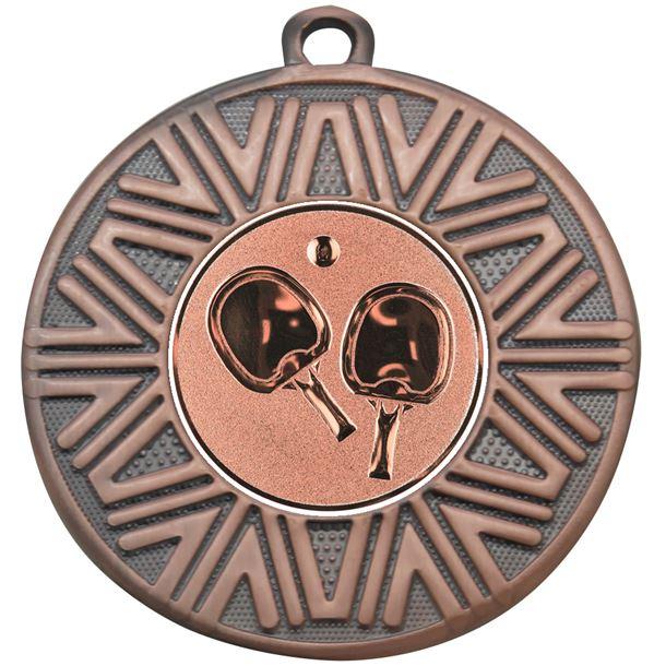 """Table Tennis Achievement Medal Bronze 50mm (2"""")"""