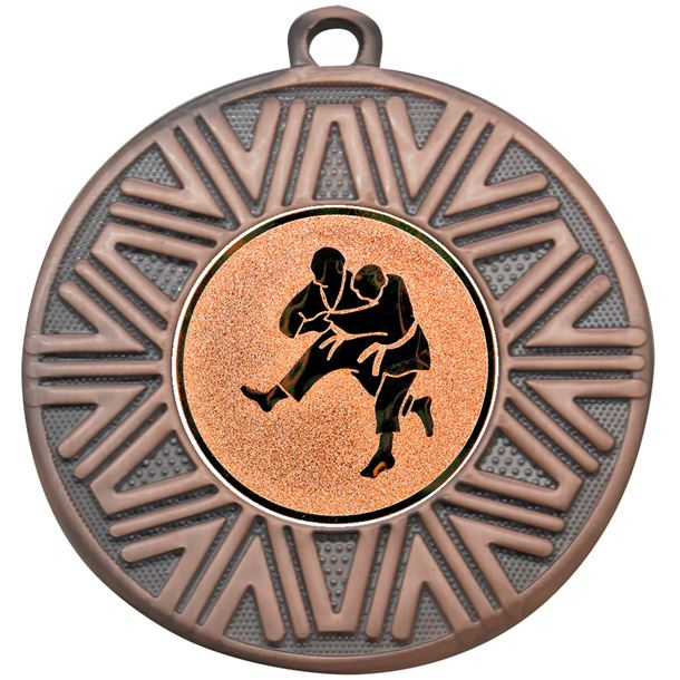 "Judo Achievement Medal Bronze 50mm (2"")"