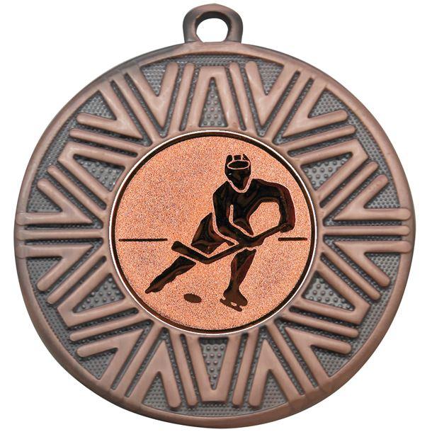 "Ice Hockey Achievement Medal Bronze 50mm (2"")"