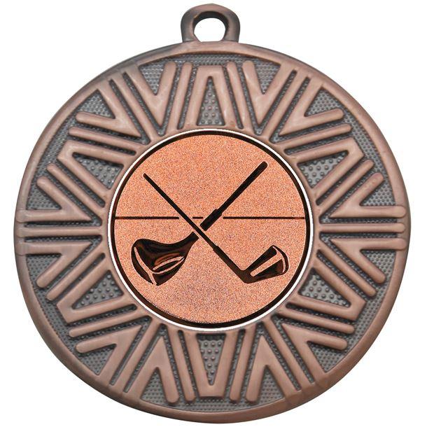 """Golf Clubs Achievement Medal Bronze 50mm (2"""")"""