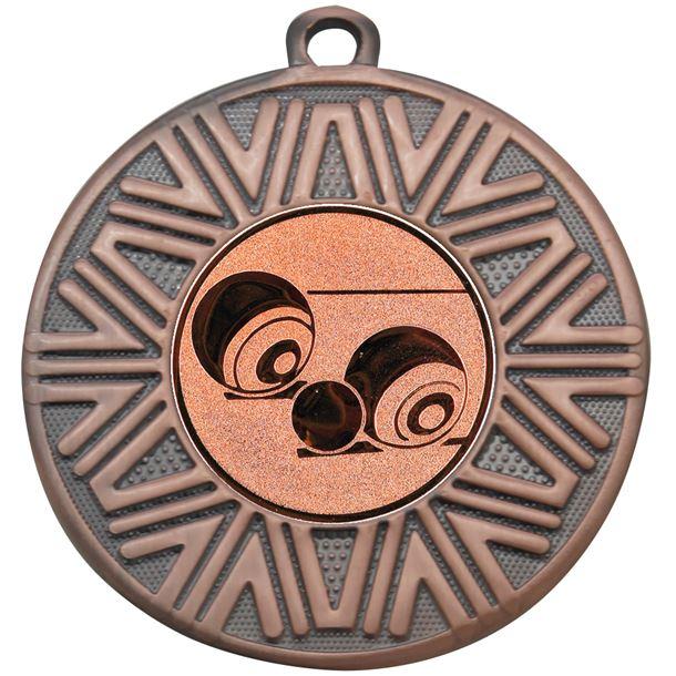"""Lawn Bowls Achievement Medal Bronze 50mm (2"""")"""
