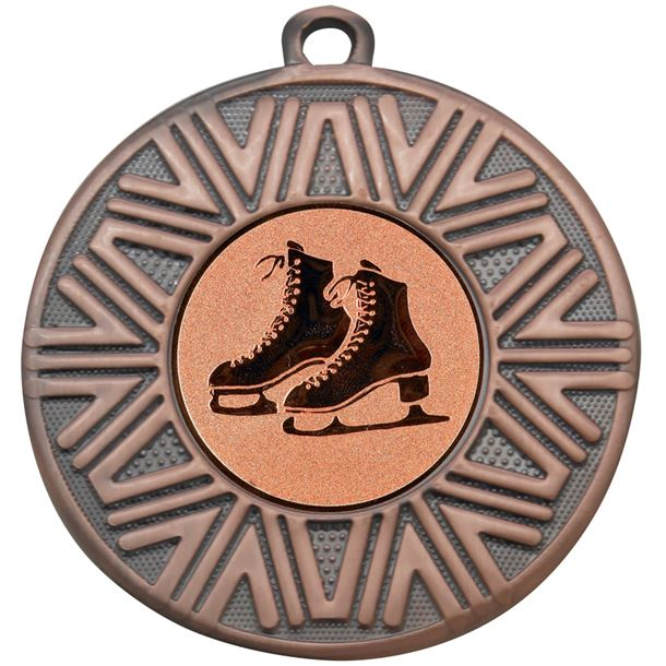 "Ice Skating Achievement Medal Bronze 50mm (2"")"