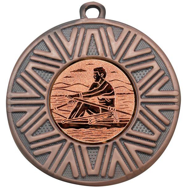 "Rowing Achievement Medal Bronze 50mm (2"")"