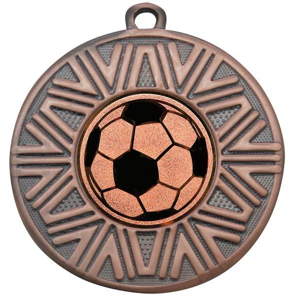 """Football Achievement Medal Bronze 50mm (2"""")"""