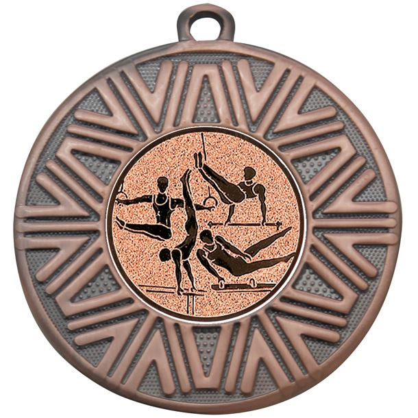 "Male Gymnastics Achievement Medal Bronze 50mm (2"")"