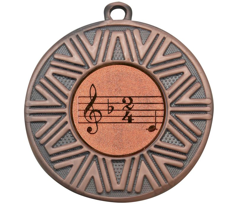 "Music Achievement Medal Bronze 50mm (2"")"