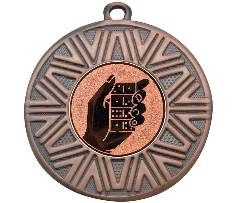 "Dominoes Achievement Medal Bronze 50mm (2"")"