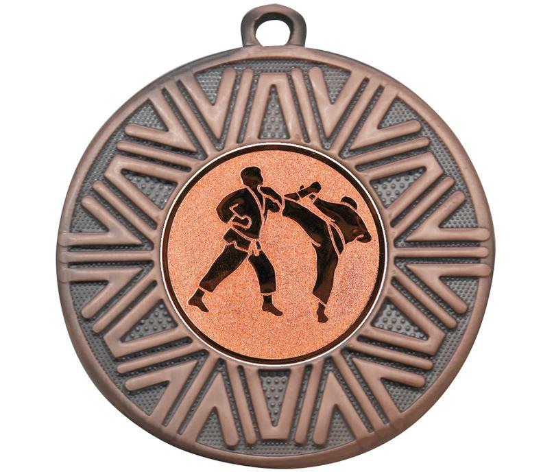 "Karate Achievement Medal Bronze 50mm (2"")"