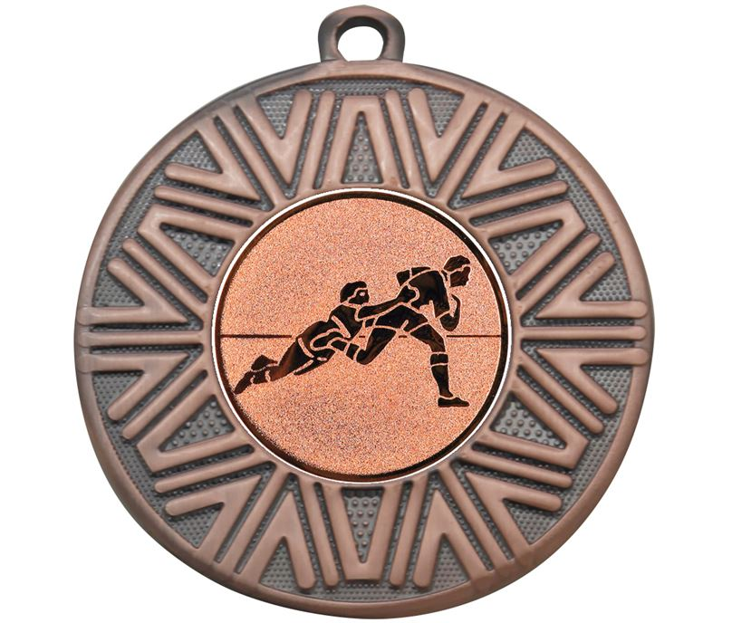 "Rugby Achievement Medal Bronze 50mm (2"")"