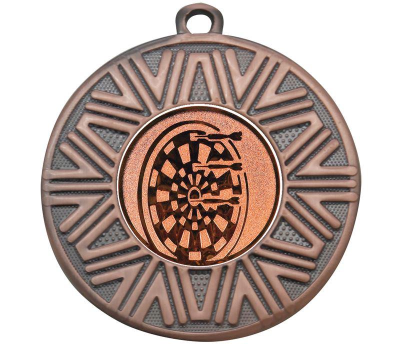 "Darts Achievement Medal Bronze 50mm (2"")"