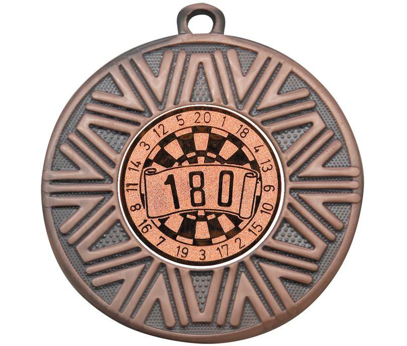 "Dart Board Achievement Medal Bronze 50mm (2"")"