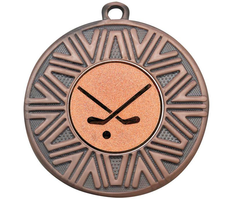 "Hockey Sticks Achievement Medal Bronze 50mm (2"")"