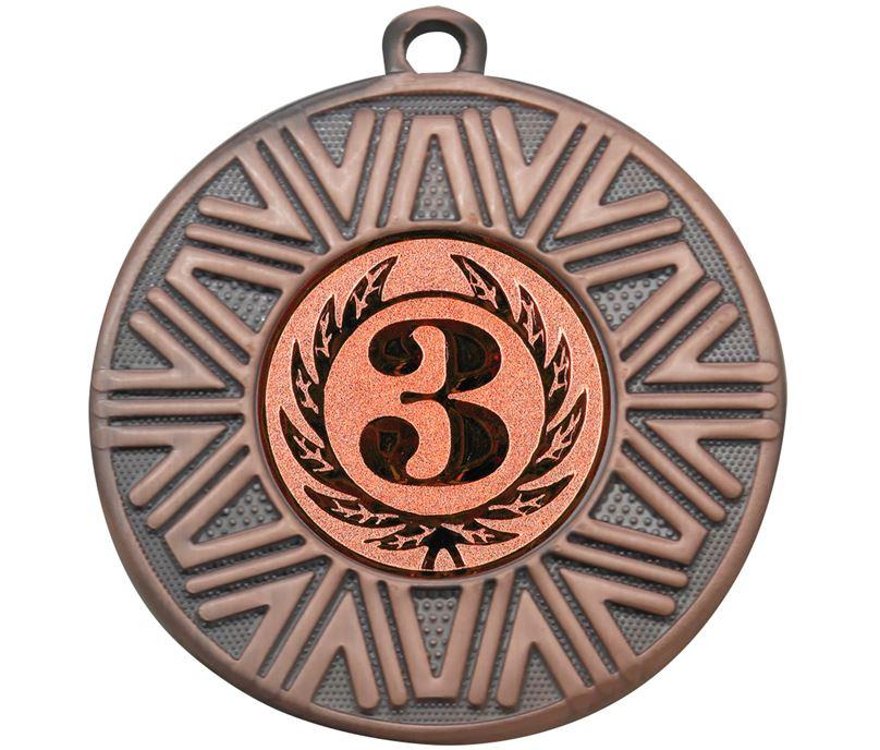 """3rd Place Achievement Medal Bronze 50mm (2"""")"""