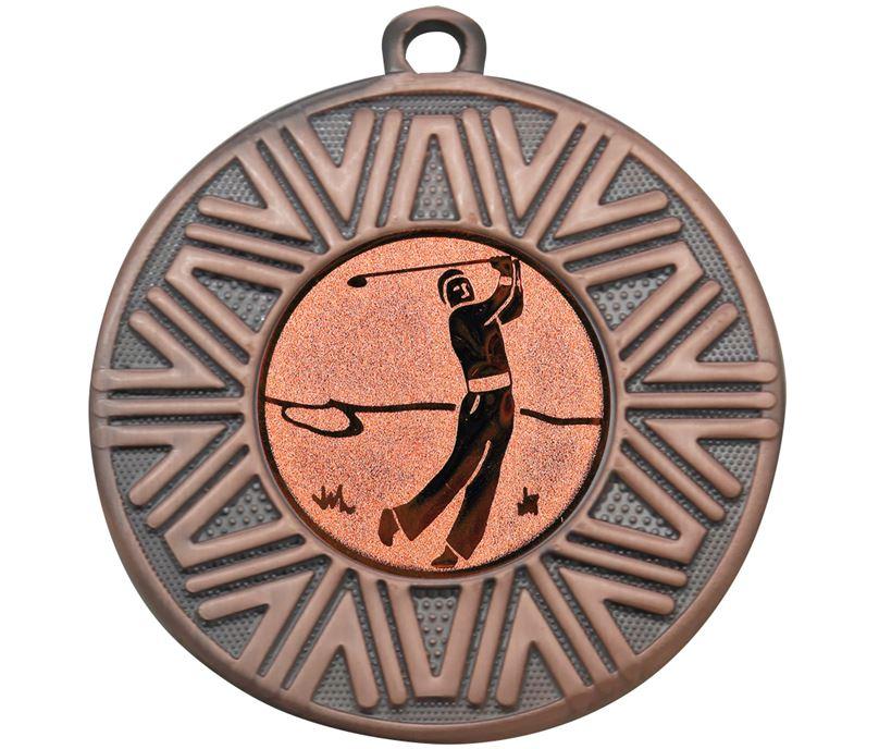 """Golf Achievement Medal Bronze 50mm (2"""")"""
