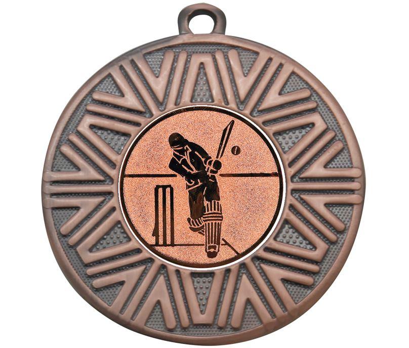 "Cricket Achievement Medal Bronze 50mm (2"")"