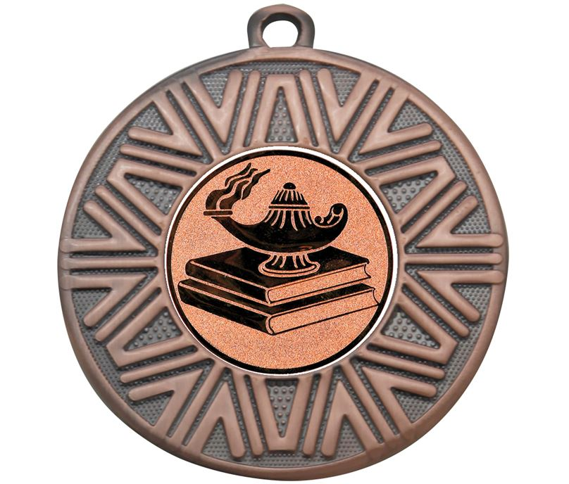 "Quiz Knowledge Achievement Medal Bronze 50mm (2"")"