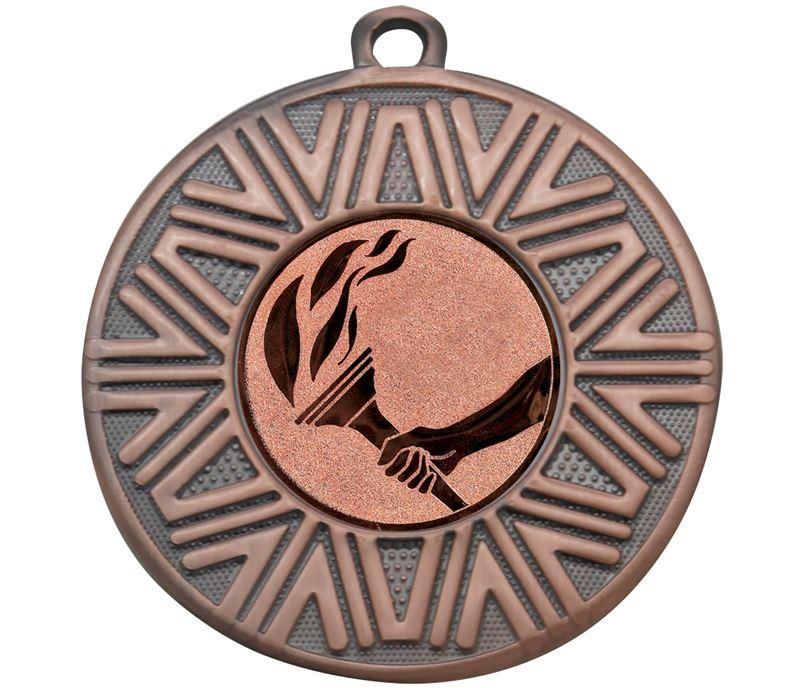 "Flame Achievement Medal Bronze 50mm (2"")"