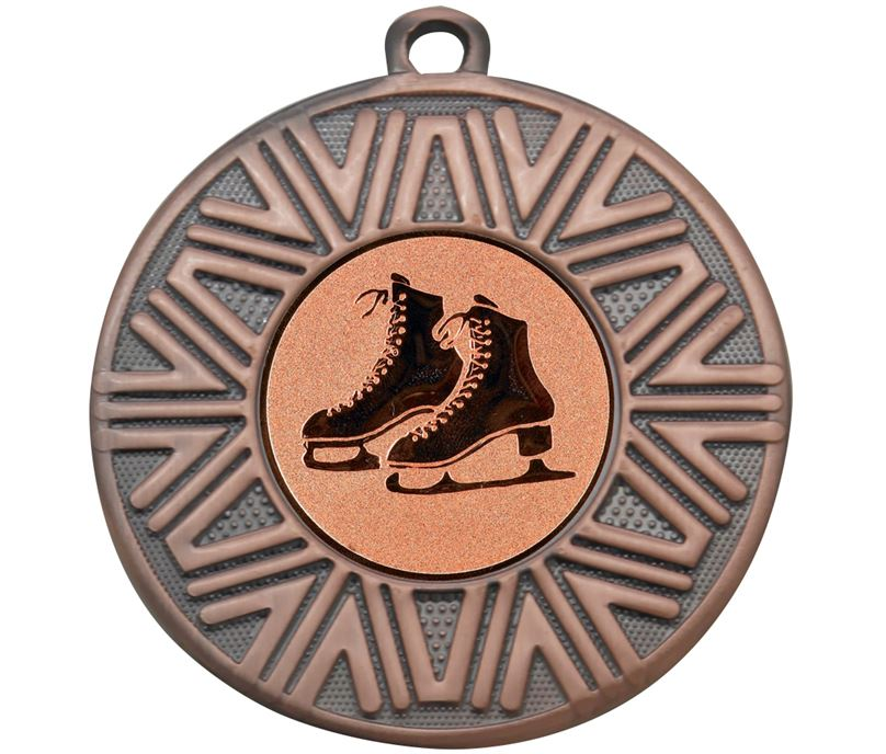 "Ice Skating Achievement Medal Bronze 50mm (2"")"