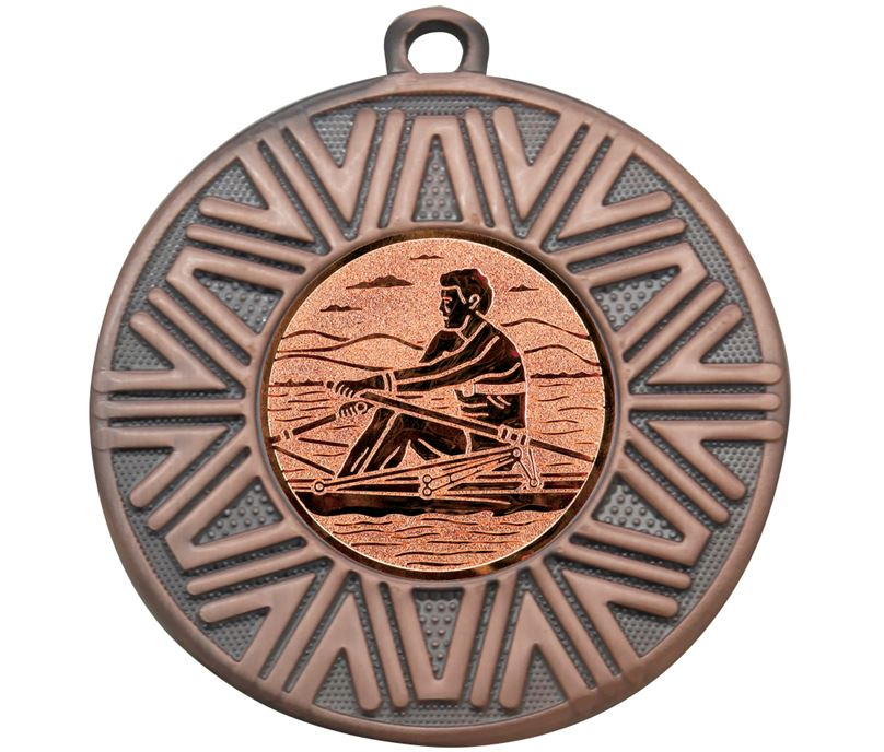 "Rowing Achievement Medal Bronze 50mm (2"")"