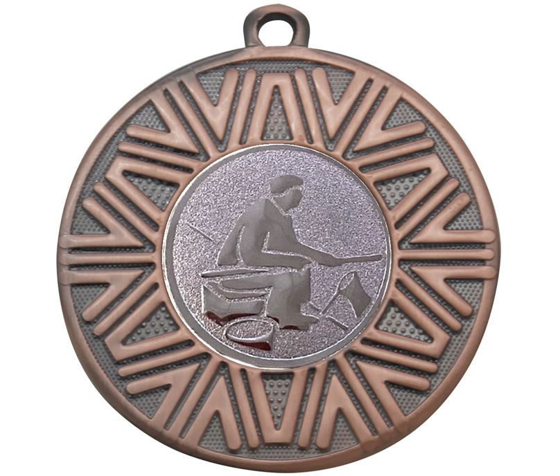 "Fishing Achievement Medal Bronze 50mm (2"")"