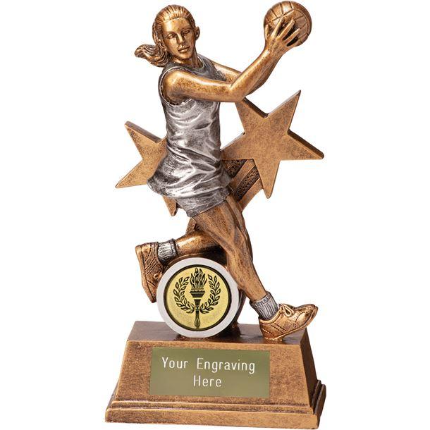 "Warrior Star Netball Trophy 12.5cm (5"")"
