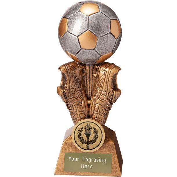 "Summit Football Boot & Ball Trophy 17.5cm (6.75"")"