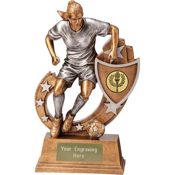 """Galaxy Female Footballer Trophy 12.5cm (5"""")"""