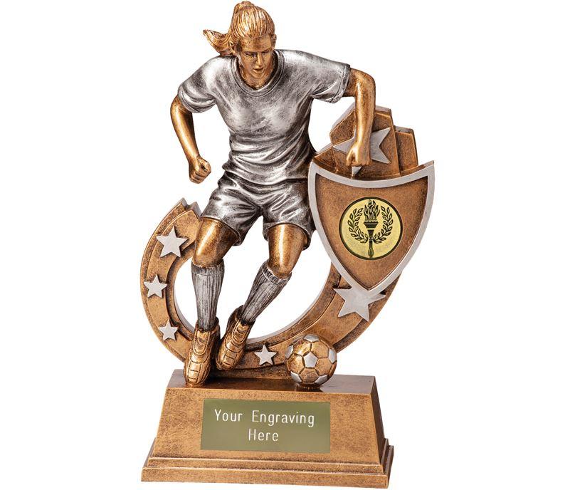 """Galaxy Female Footballer Trophy 16.5cm (6.5"""")"""