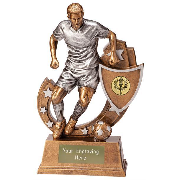 "Galaxy Male Footballer Trophy 12.5cm (5"")"