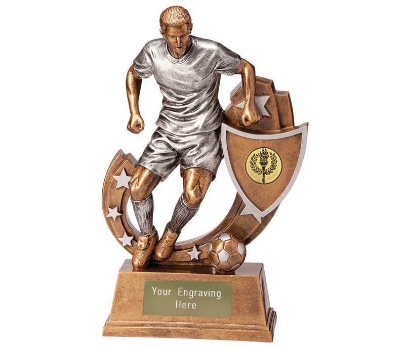 "Galaxy Male Footballer Trophy 20.5cm (8"")"