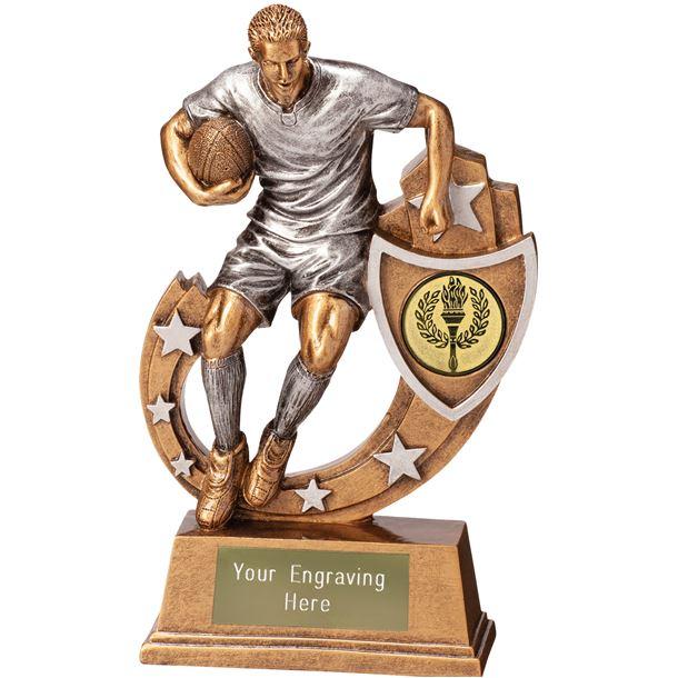 """Galaxy Male Rugby Trophy 16.5cm (6.5"""")"""