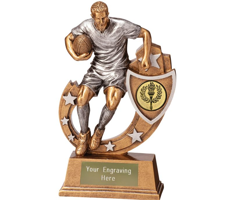 "Galaxy Male Rugby Trophy 20.5cm (8"")"