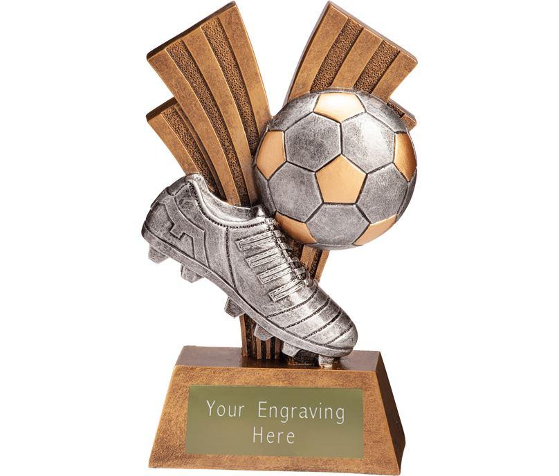 """Football Boot & Ball Xplode Trophy 15cm (6"""")"""