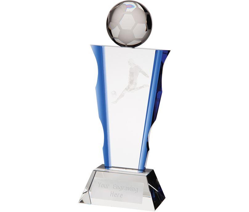 "Football Celestial Column Glass Award 23cm (9"")"