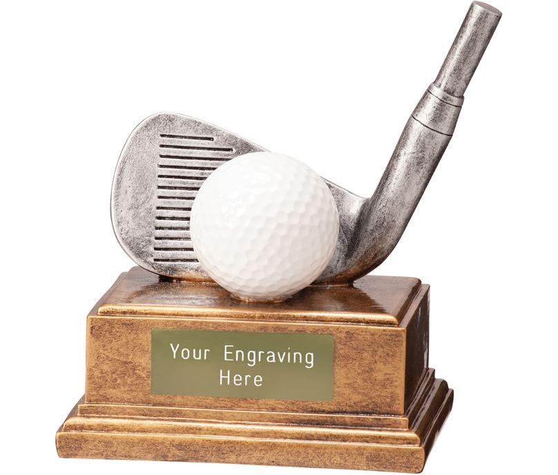 "Golf Iron Belfry Trophy 12cm (4.75"")"